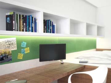 Studentenzimmer design  Vektorplus | der kreuzungspunkt zwischen architektur design und it